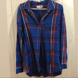 Old Navy women's boyfriend fit plaid shirt L